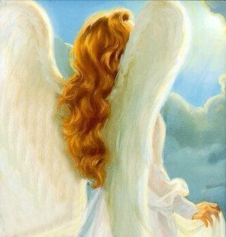 A redheaded angel; Actual size=180 pixels wide